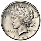UNITED STATES Silver Coin PEACE DOLLAR (1921 -1935)